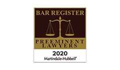 Bar Register preeminent Lawyers badge